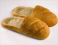 Only a fat kid like me can truly enjoy something like this....Funny bread-slippers