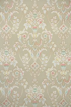 Vintage Wallpaper Floral Damask