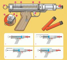 how to make a rainbow pistol