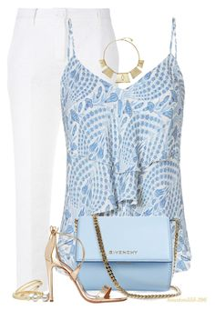 """Baby Blue"" by houston555-396 ❤ liked on Polyvore featuring Dolce&Gabbana, Exclusive for Intermix, Trina Turk, Givenchy, Chloé and Aquazzura"