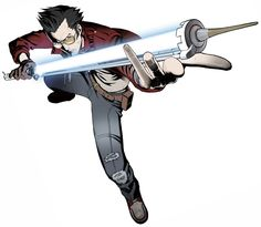 Travis Touchdown & Beam Katana - Pictures & Characters Art - No More Heroes