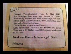 Der schönste Dank @ Schweriner Volkszeitung vom 18. Mai 2013