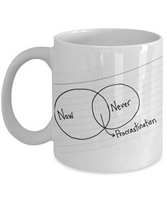 Coffee Tea Ceramic Mug, White, Cool Procrastination Theme... https://www.amazon.com/dp/B06XZW7ZYQ/ref=cm_sw_r_pi_dp_x_tBH4ybS1XHH1V