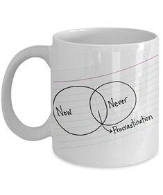 Coffee Tea Ceramic Mug, White, Cool Procrastination Theme... https://www.amazon.com/dp/B06XZW7ZYQ/ref=cm_sw_r_pi_dp_x_tBH4ybS1XHH1V