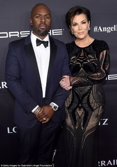 A-list affair: Kris Jenner, 61, attended the star-studded event where her ex and the late Robert Kardashian was being honored, with beau Corey Gamble