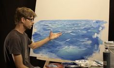 How To Paint Waves – Lesson Light - Painting Techniques Acrylic Painting Techniques, Painting Lessons, Art Techniques, Art Lessons, Painting & Drawing, Matte Painting, Drawing Tips, Pinturas Bob Ross, Art Tutorials