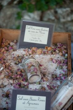Rose salt from Eze France~purchased some great french soap & bath oil here...
