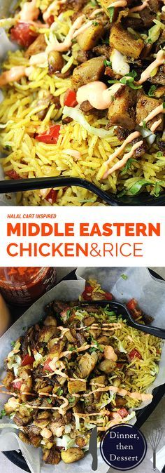 Halal Cart's boldly flavored Middle Eastern Chicken and fragrant…