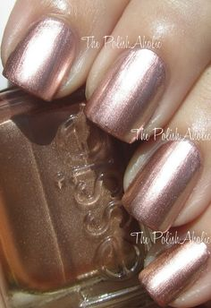 The PolishAholic: Essie Mirror Metallics Collection Swatches - Penny Talk