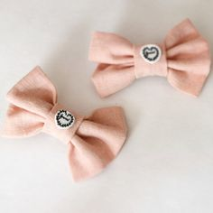 Feminist Pink Hair Bow Clip Barrette by FabulouslyFeminist on Etsy, $5.95