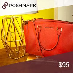 Michael Kors Hand Bag(color pop) Gently love red satchel Michael Kors Bags Satchels