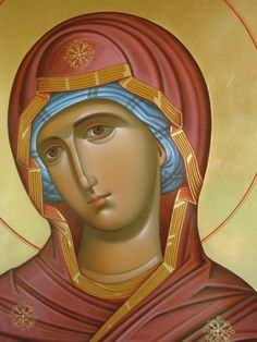 Byzantine Icons, Byzantine Art, Blessed Mother Mary, Blessed Virgin Mary, Religious Icons, Religious Art, Architecture Religieuse, Baby Food Jar Crafts, Spiritual Paintings