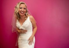 Bright, pink, colourful wedding photos