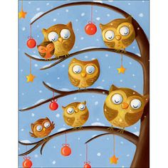 Buy Special Editions Owls in Tree Charity Christmas Card, Box of 5 Online at johnlewis.com