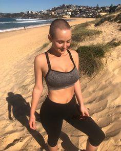 hot bald young woman