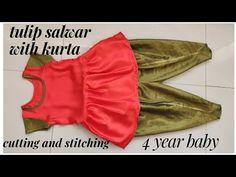 Chudi Neck Designs, Tulip Pants, Short Tops, Tulips, Bikinis, Swimwear, Stitching, Sewing, Youtube