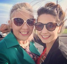 Louise and Zoe❤ British Youtubers, Best Youtubers, Sugg Life, Sprinkle Of Glitter, Zoe Sugg, Tyler Oakley, Zoella, Brighton, Cat Eye Sunglasses