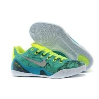 online retailer a68fa aab48 Nike 646701-300 Kobe 9 EM Easter White Lucid Green-Metallic Silver-Green