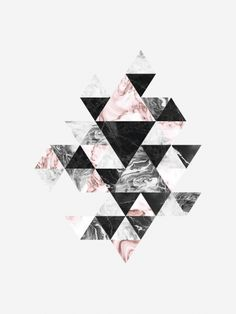 Graphic print with triangles.