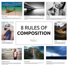 Printing Digital Photography Want to become a great photographer? Learn these 8 rules of composition and you'll begin to see immediate results. Photography Rules, Photography Lessons, Photography Tutorials, Digital Photography, Amazing Photography, Rule Of Thirds Photography, Dream Photography, Wedding Photography, Photography Backdrops