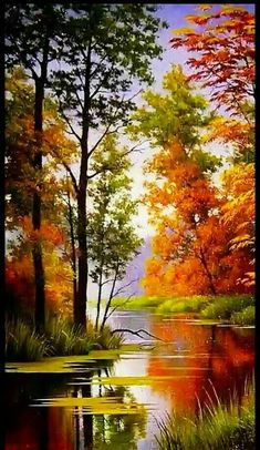 56 Ideas For Painting Beautiful Nature Beautiful Nature Pictures, Beautiful Nature Wallpaper, Amazing Nature, Nature Photos, Beautiful Landscapes, Beautiful Paintings Of Nature, Nature Paintings, Canvas Painting Nature, Art Paintings