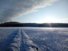Pilvi ja sininen taivas kohtaa, Jyskän ranta tammikuu 2018 jyväskylä River, Mountains, Nature, Outdoor, Outdoors, Naturaleza, Outdoor Games, The Great Outdoors, Natural
