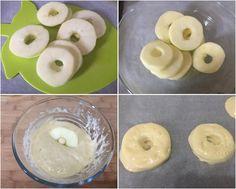 procedimento delle frittelle di mele al forno