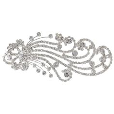 NEW Art Deco Style Crystal & Silver Tone Hair Comb Clip Bridal, Prom or Pageant #HeirloomFinds