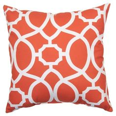 Outdoor Pillow - Coral Trellis - Threshold™