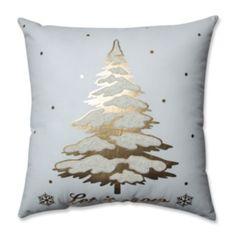 Pillow Perfect Glamour Single Tree Gold-White Throw Pillow Gold, Size 17 x 17 (Cotton, Embroidered) Gold Throw Pillows, Buy Pillows, Fluffy Pillows, Scatter Cushions, Gold Christmas Tree, Christmas Stuff, Xmas, Christmas Ideas, Christmas Time