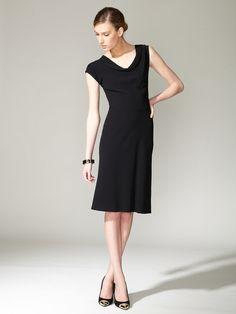 Narciso Rodriguez Wool Cowl Dress