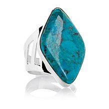 Jay King Mongolian Turquoise Sterling Silver Ring
