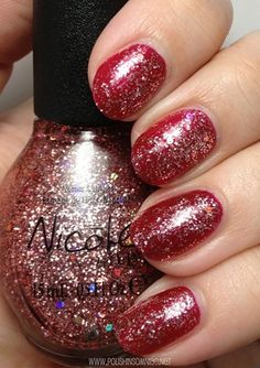 Nicole by OPI Haley Good Lookin'... over Basking in Gloria  (Modern Family Collection)
