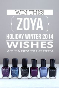 I just entered for a chance to win the newly released Zoya Winter Holiday Wishes nail