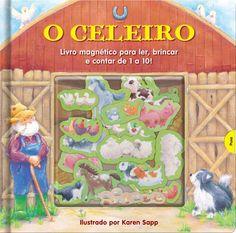 Guiados pelo fazendeiro, é hora dos animais voltarem para o celeiro! Leia a história, acompanhe e conte os animais, colocando seus ímãs nos maravilhosos cenários da Fazenda da Amizade!
