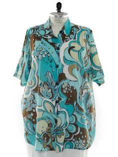 BOP Tops 100% Cotton Retro Lagoon Print Short Sleeve Tunic Top W/Shirring by WeBeBop (0X) Bop Tops by We Be Bop,http://www.amazon.com/dp/B00BZBU00I/ref=cm_sw_r_pi_dp_0Xmtrb8AED504A91