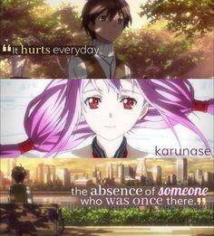 """It hurts everyday, the absence of someone who was once there.."" 