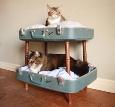 RESERVED FOR BOBBIE Cozy Cargo Suitcase Bunk Bed by SalvageShack