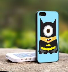 Despicable Me Minion The Avengers - For iPhone 5 Black Case Cover | TheCustomArt - Accessories on ArtFire