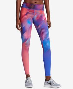 2c698b0aba Nike Power Epic Lux Printed Running Leggings & Reviews - Pants & Capris -  Women - Macy's