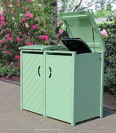 Mülltonnenbox SYLT - Müllbox in jeder Farbe - RAL 6021