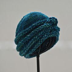 It's a Wrap Hat by Natalie Larson. malabrigo MECHA. Solis colorway.