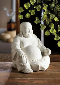 Peace, smiles and style is what this white Buddha figurine brings to your home. This is a great addition to your mantel, shelf or desk and brings a little bit of serenity from this classic smiling Buddha. x x Polyresin, Felt Pads. Buddha Gifts, Buddha Figures, Serenity, Garden Sculpture, Statue, Classic, Happy, Outdoor Decor, Mantel Shelf