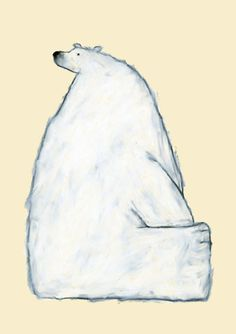 Polar bear by Japanese illustrator - Yusuke Yonezu