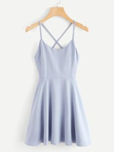 Back To School Outfits Summer: Criss Cross Back DressFor Women-romwe Cute Casual Outfits, Cute Summer Outfits, Pretty Outfits, Pretty Dresses, Beautiful Dresses, Casual Dresses, Hoco Dresses, Dance Dresses, Homecoming Dresses