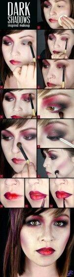 Red makeup tutorial