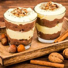 Cremiger Low Carb Vanille-Schoko-Pudding