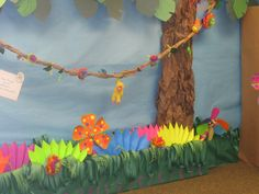 Tropical theme wall Churches Of Christ, Tropical, Craft Ideas, Wall, Crafts, Decorations, Diy Ideas, Crafting, Diy Crafts