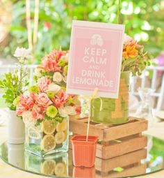 Spring colors and lemonade are a perfect pairing! Sprinkle in summer truffles and lollypops and you're set.