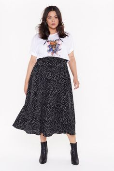 Midi Skirt Outfit, Long Skirt Outfits, Mode Outfits, Fashion Outfits, Hijab Fashion, Womens Fashion, Look Plus Size, Plus Size Casual, Plus Size Grunge